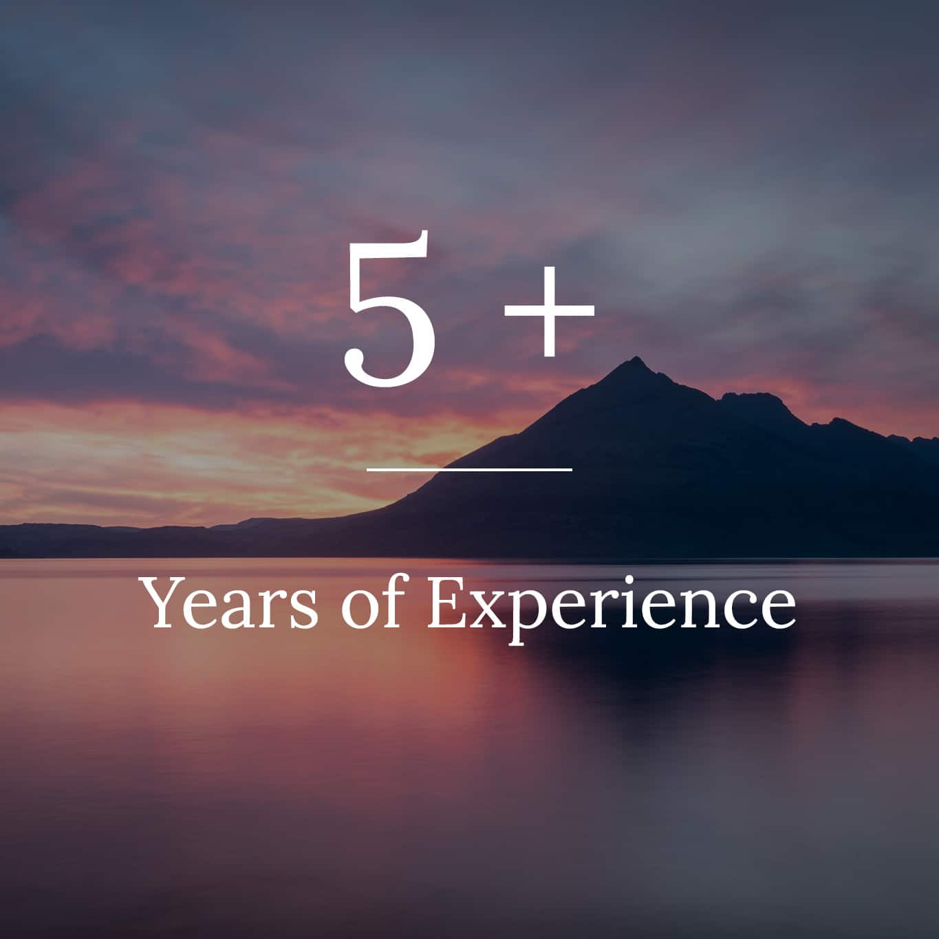 About us experience